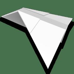 Paper Airplane - White - Collision Mesh