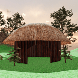 tropical indian shack