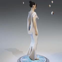 Elegant Extremely Low Back Dress WHITE