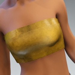 tube top silk shiny gold