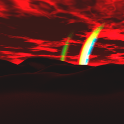 Lepers Art - Soft Dark Wasteland Sky