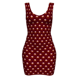 Woman Simple Dress - Scales