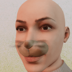 Rabbit nose easter with moustache for 2.0 Avatar