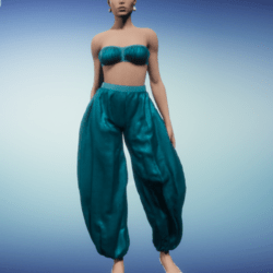 harem outfit_peacock