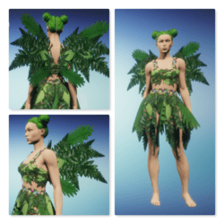 Forest Fae - Leafy Green Wings