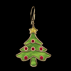 christmas earrings gold
