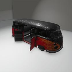 hot rod bus decor