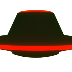 Drivable Red UFO!