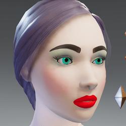 X - Alina - Lite Party Skin & Makeup Avatar