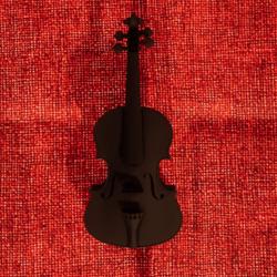 Violin Stradivari Wood Dark