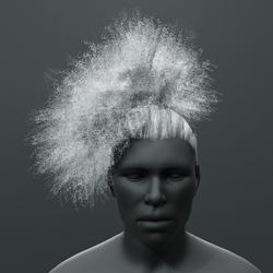 Reggie - Curly Ponytail Puff Hair - Men's