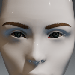 Eyes (blue-green) and brows (blonde) for the Irene Head by Apocalypse Bunnies