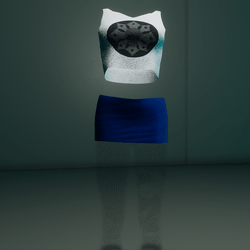 Clubbin Outfit (White/Blue Skull)
