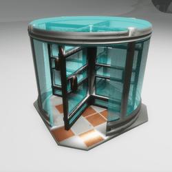 Revolving Door Steel and Glass - Shell