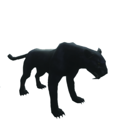 black panther static model