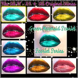 Green Mermaid Scarlet Lips - Scarlet Series - Fits all Original Alina & X1 - X4 Avatars