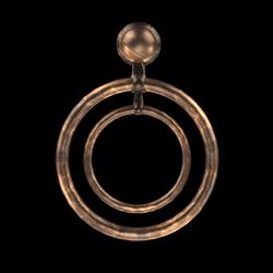 oversized  double hoops  copper AV2.0