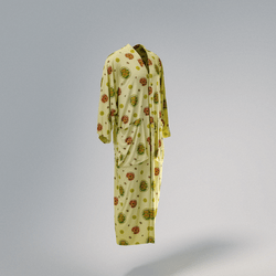 Silk Caftan Light Yellow