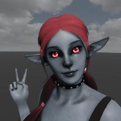 Dark Elf Avatar (Emissive Eyes)
