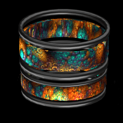 fire bangles pewter