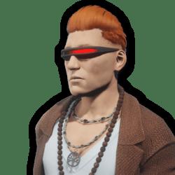 Cyborg Laser Glasses Animated Male