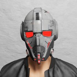 TKA Helmet Scifi Red Emissive & UV Animation ( Men )