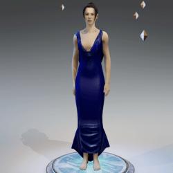 Elegant Dress NAVY BLUE