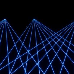 laser animated blue