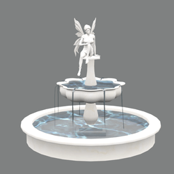 Fountain with fairy statue