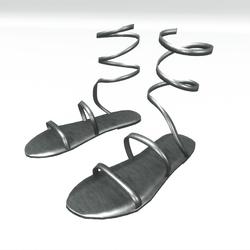 Ancient greek sandals  - silver
