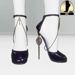 Galaxy cage heels for the h2ai high - purple gold