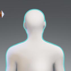 Cyan Glowing Aura M