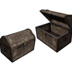 Wooden Chest  [SCRIPTED open/close]