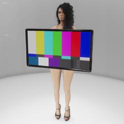 Media screen held in hands