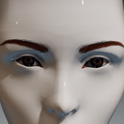 Eyes (brown) and brows (red) for the Irene Head by Apocalypse Bunnies