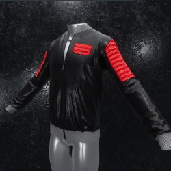 Leather Jacket Ron black red