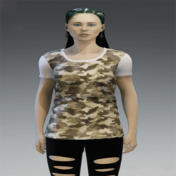 T-Shirt Green Camouflage