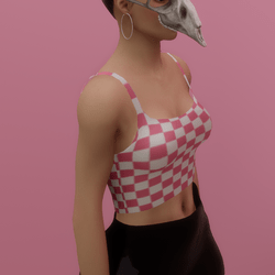 Pink Checkered Tank