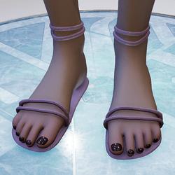 Grey lavender sandals