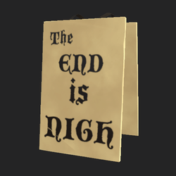 end is nigh sign