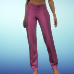Two-tone Dress Pants - Fushia Linen
