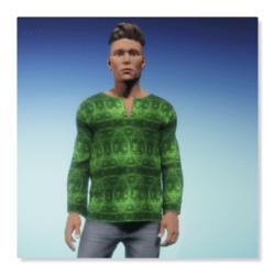 Tunic - da Vinci Fractal Green