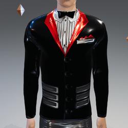 Black-Red Peak Simulated Modern-Tux - Male