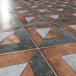 Art Deco Floor Brown-Grey