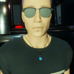HoverDerby - Blue atom necklace (male)