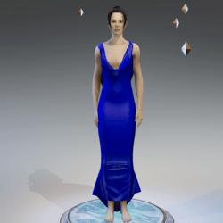 Elegant Dress LIGHT NAVY BLUE