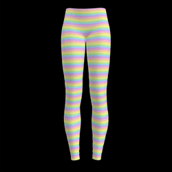 Pastel Rainbow Yoga Leggings (Cotton Candy Dreams)