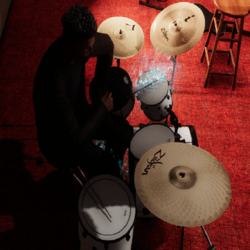 Playing Drums emote free