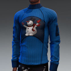 Christmas Sweater With Happy Snowman