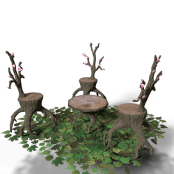 Tree Table - Chairs Set